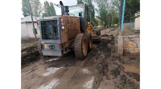 Bayburt'ta sağanak sele neden oldu; 11 hayvan öldü