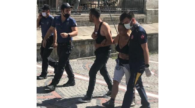 Edirne'de tarihi çarşıda bıçaklı kavga: 2 yaralı
