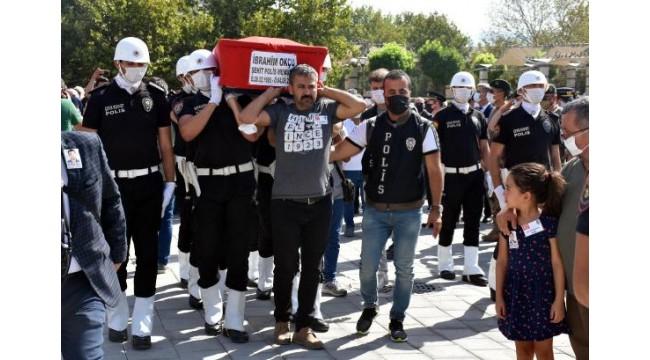 Şehit polis İbrahim Okçu son yolculuğuna uğurlandı