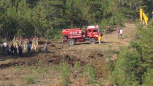 Tavşanlı'daki orman yangını erken müdahaleyle söndürüldü