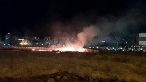 Diyarbakır'da atılan 'havai fişek' yangın çıkardı