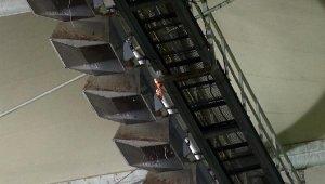 Kadıköy'de ısıtıcıların yer aldığı alanda alev çıktı